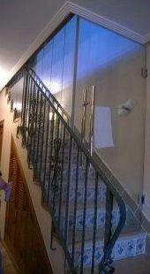 Cierre escalera para calefacción
