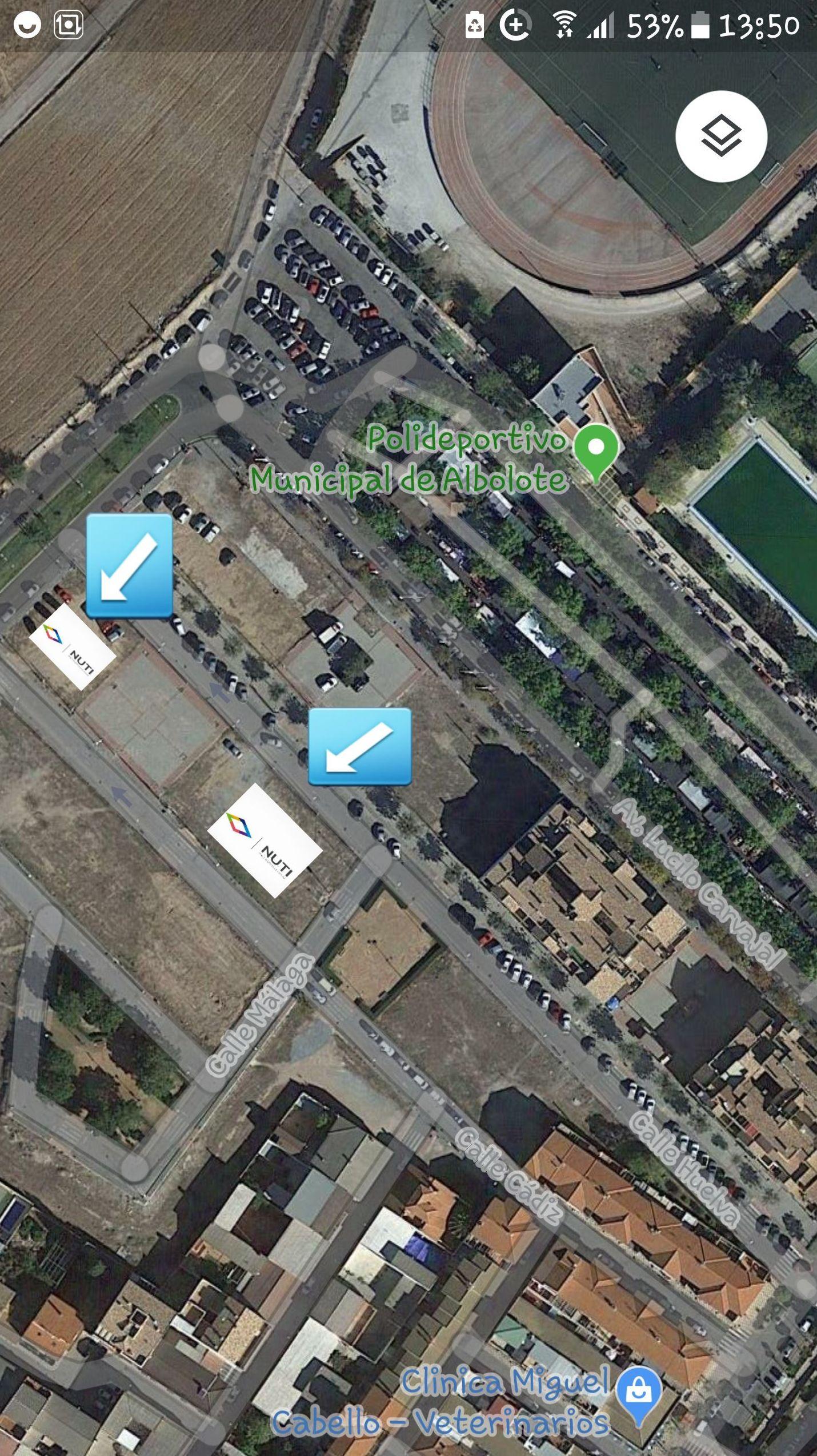 Situación de nuestras parcelas en Google Maps