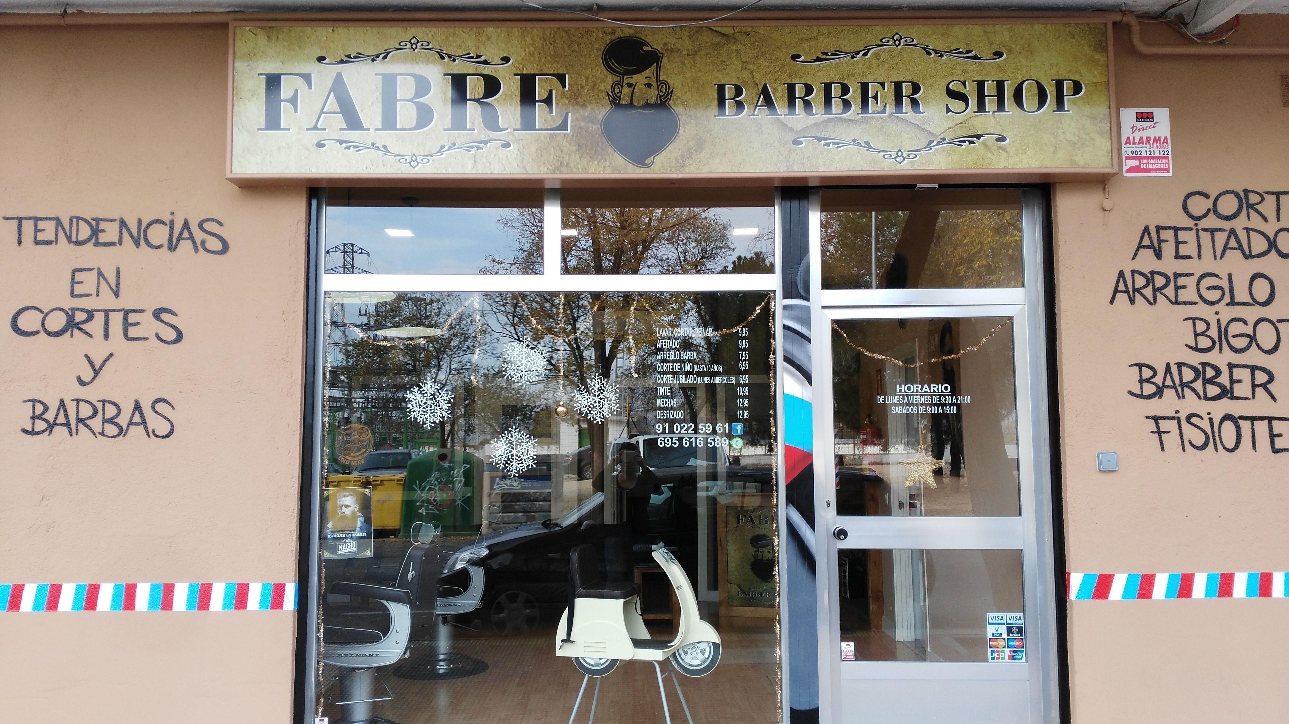 Fachada de la barbería