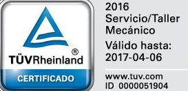 Nuestro taller ha obtenido la certificación TÜVRheinland