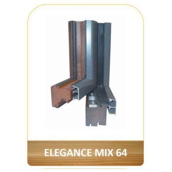 Ventana en madera y aluminio Elegance Mix 64: Productos de Carpintería Ortal