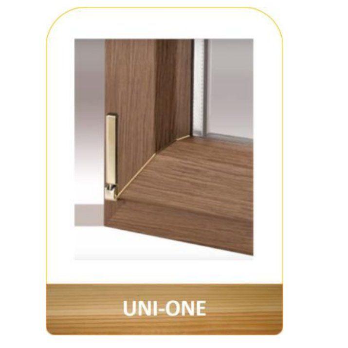 Ventana aislante en madera y aluminio Uni_One: Productos de Carpintería Ortal