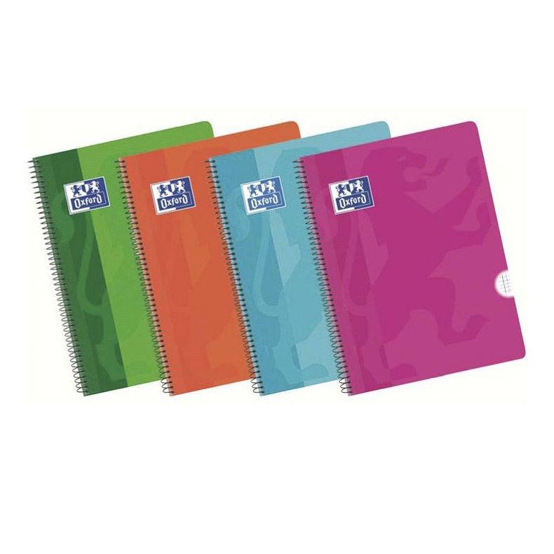 Cuaderno Oxford con tapa de plástico