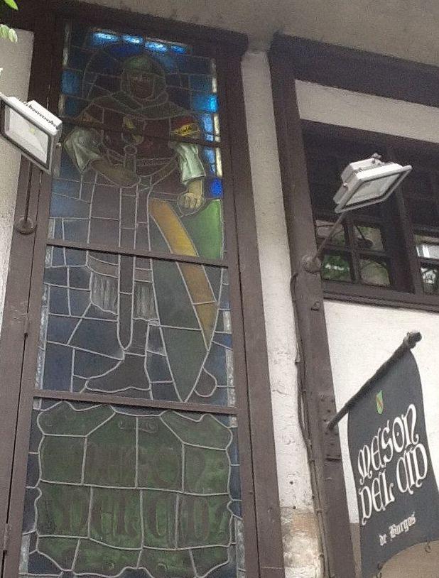 Vidriera de entrada al restaurante