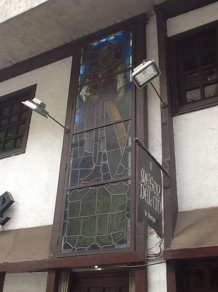 Detalle de la fachada del restaurante