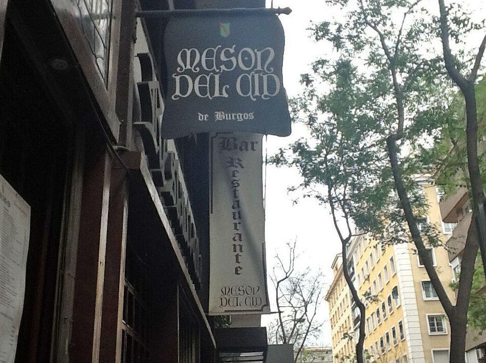 Fachada del restaurante en Madrid