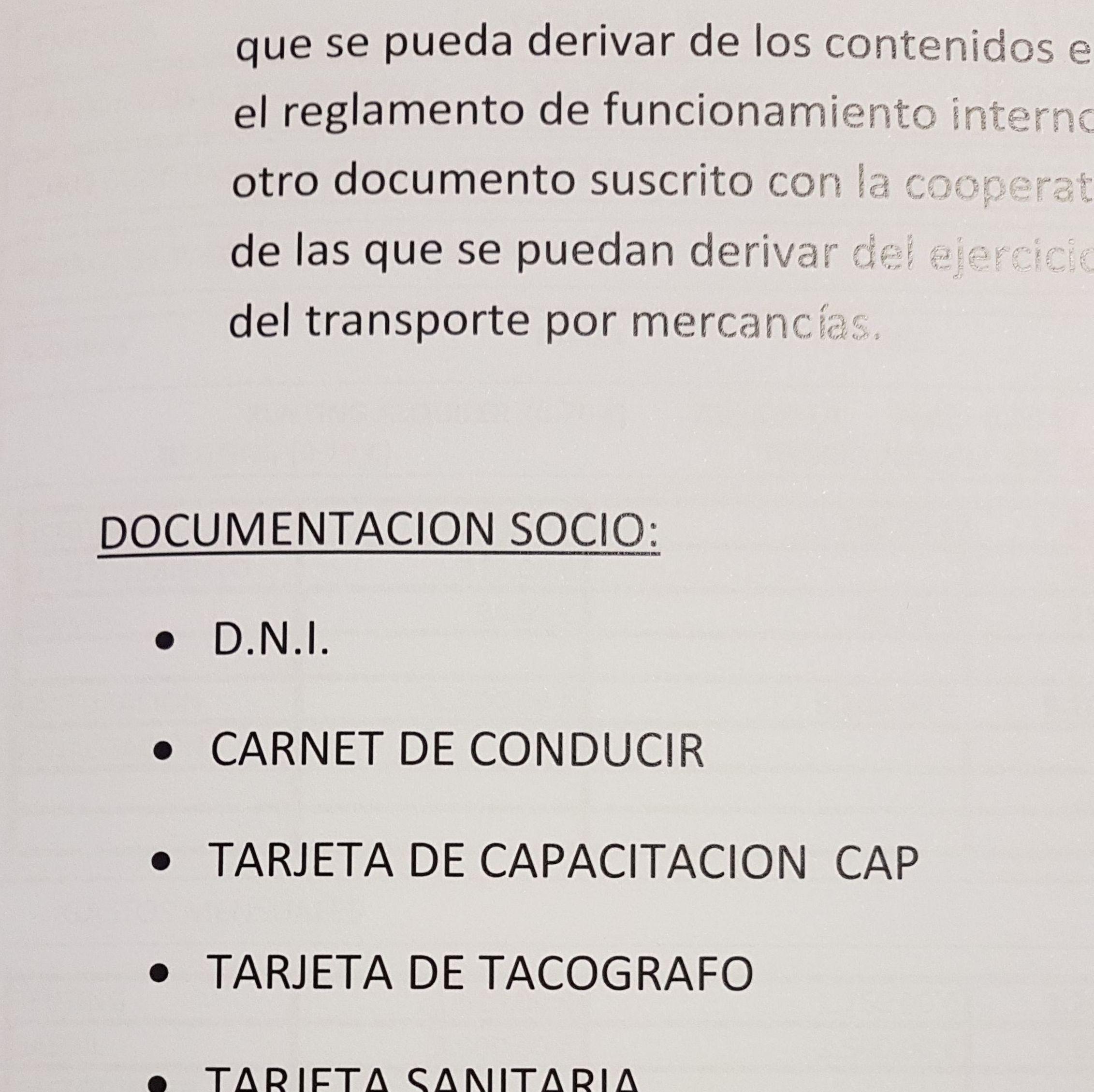 Documentación para cooperativa