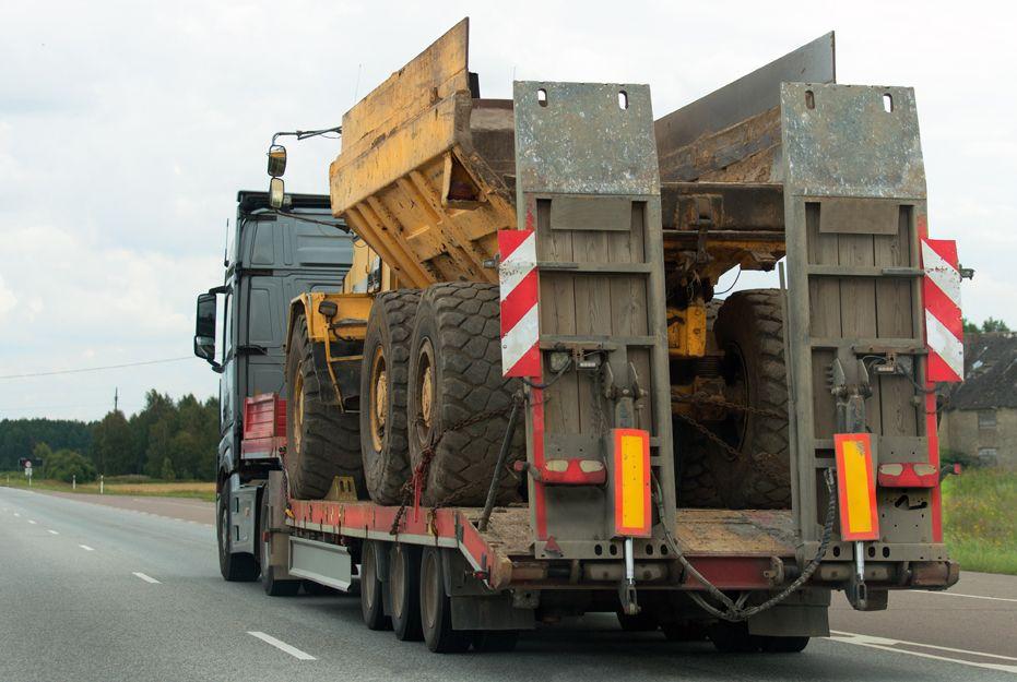 Camiones góndola para el transporte de maquinaria