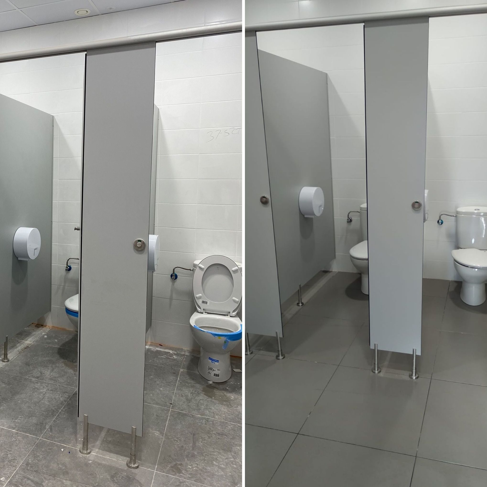 Limpieza de obra nueva baños (antes y después)