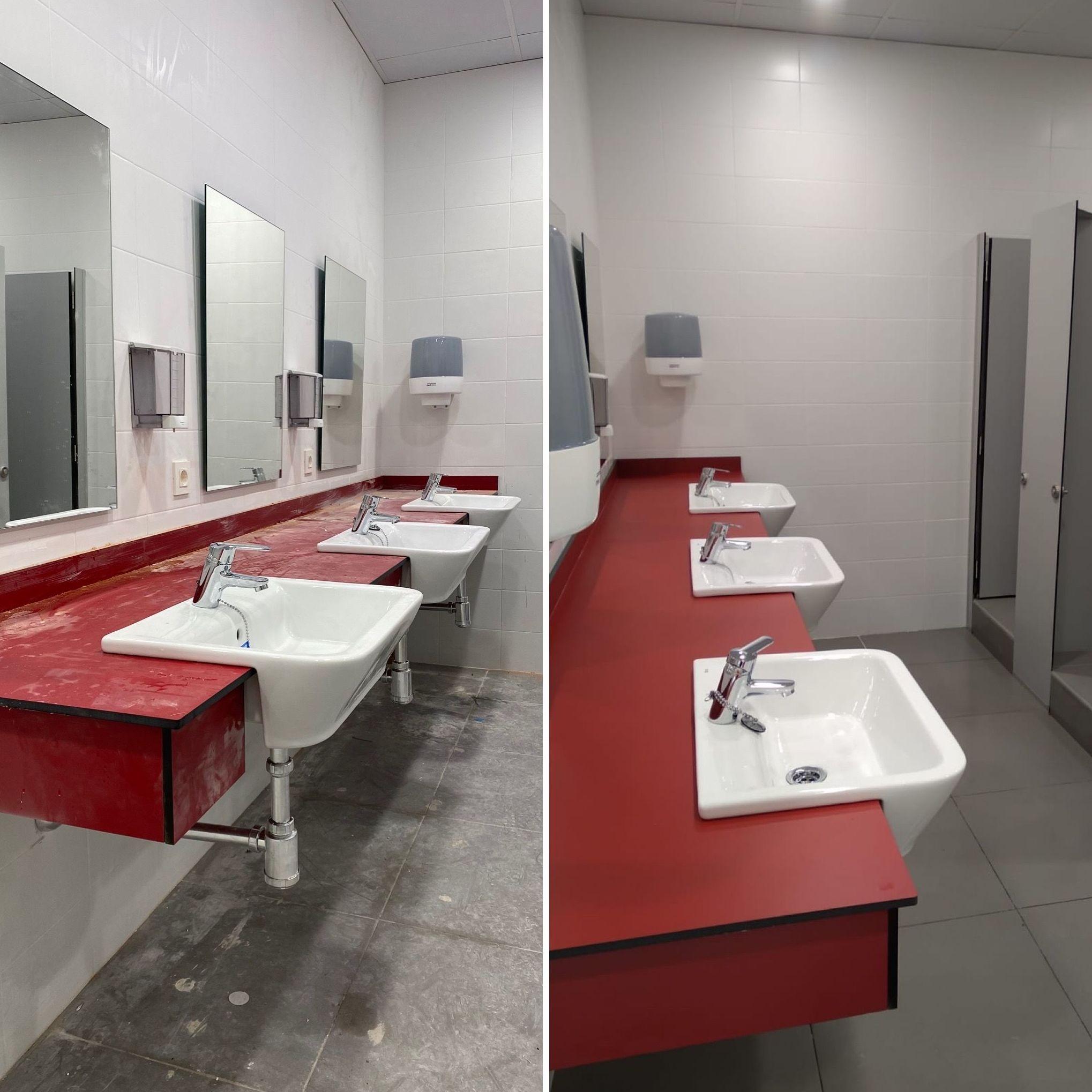 Limpieza de obra nueva (antes y después)
