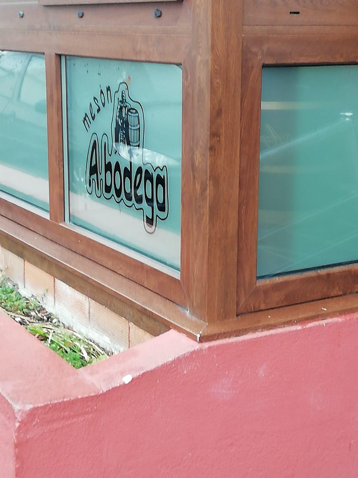Detalle de cerramiento de terrazas para hostelería