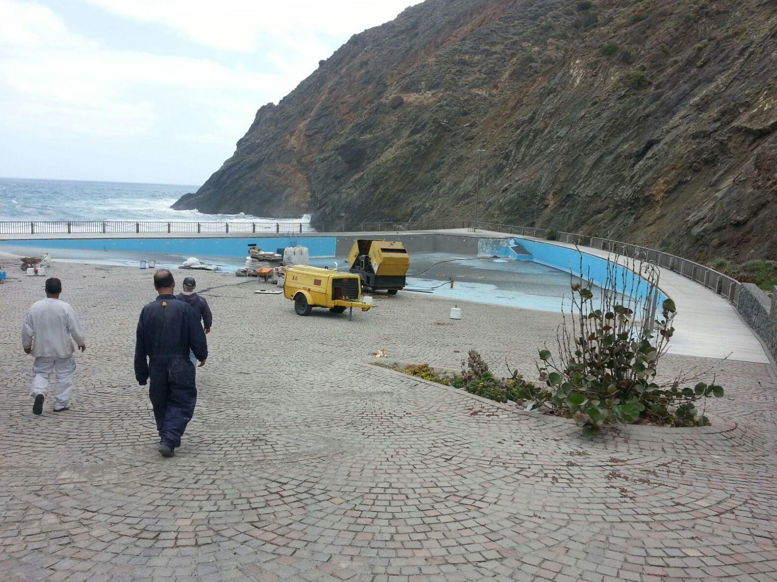 Ejecución de obra, piscina Tenerife