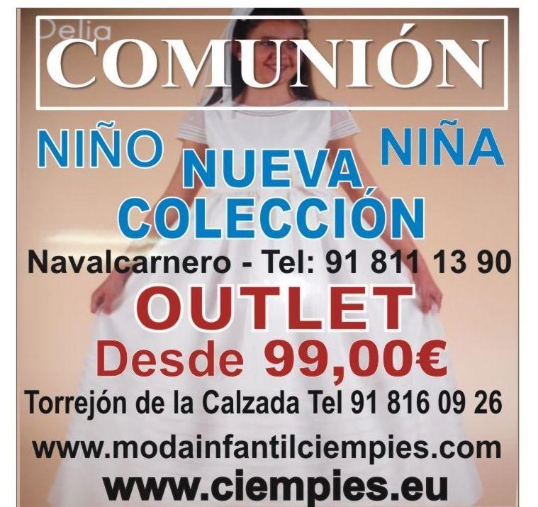 OUTLET COMUNIÓN NIÑO Y NIÑA: Catálogo de Ciempies Navalcarnero 91 811 13 90