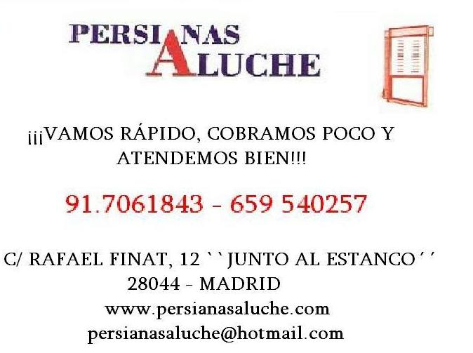 Persianas Aluche amplia servicios.