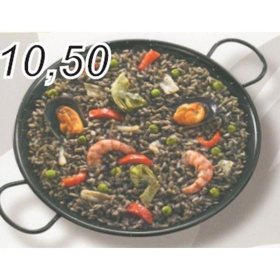 Paella de arroz negro: Carta de Casa Luciano