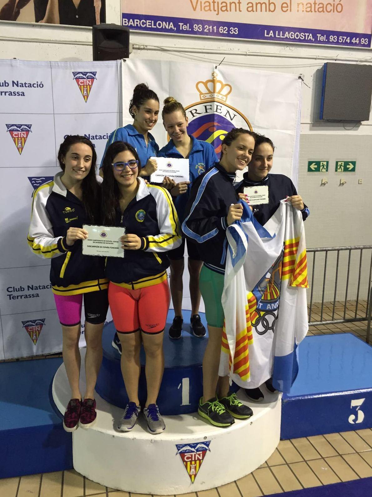 El equipo junior femenino, subcampeón en el Campeonato de España Junior e Infantil de Invierno