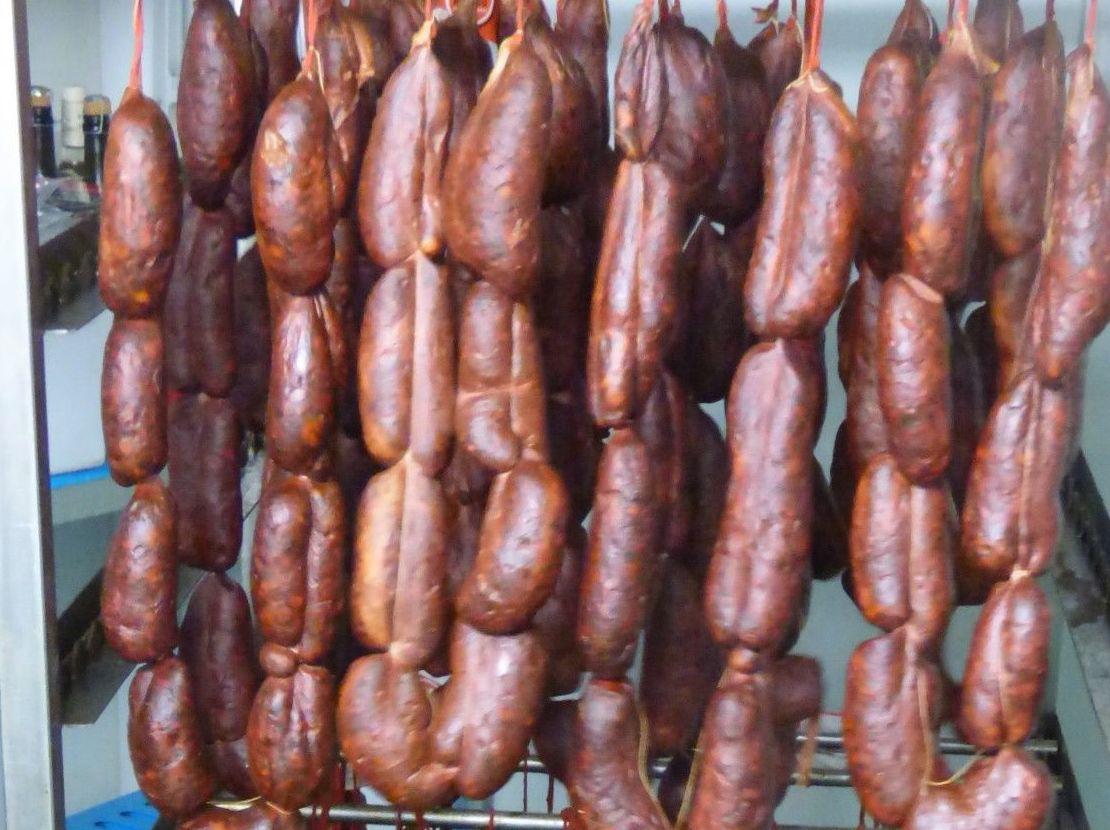 Chorizos gallegos de gran calidad