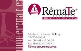 Subastas El Remate. Libros y Manuscritos.