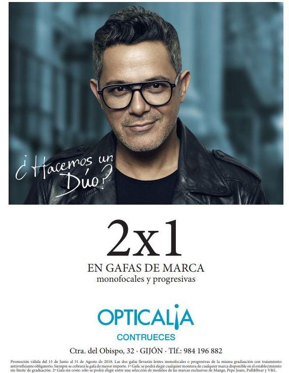 2x1 en gafas de marca. Monofocales y progresivas.