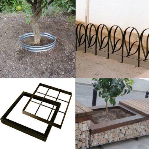 Chapas perfiladoras o de separación para caminos y jardines