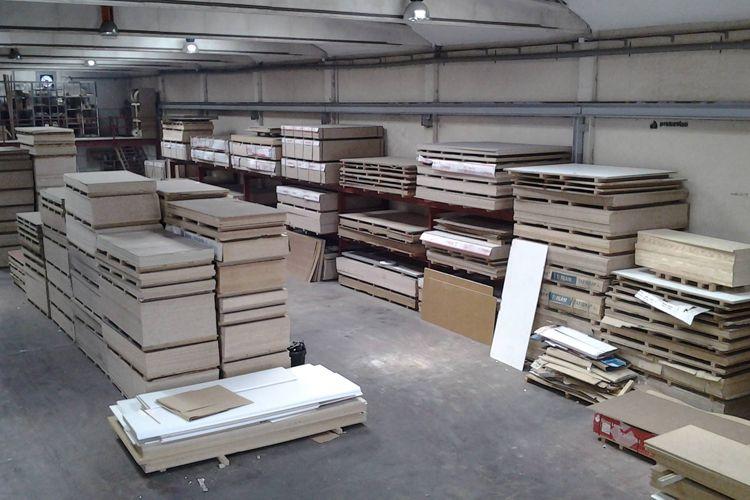 Interior de nuestra fábrica de tableros