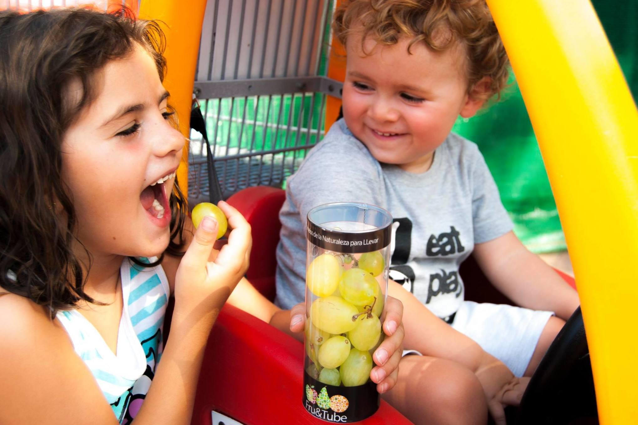 Fruta envasada para niños