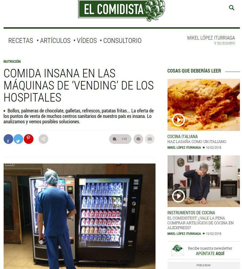 Artículo y entrevista de el Comidista en el País: Productos y Servicios de Fru&Tube
