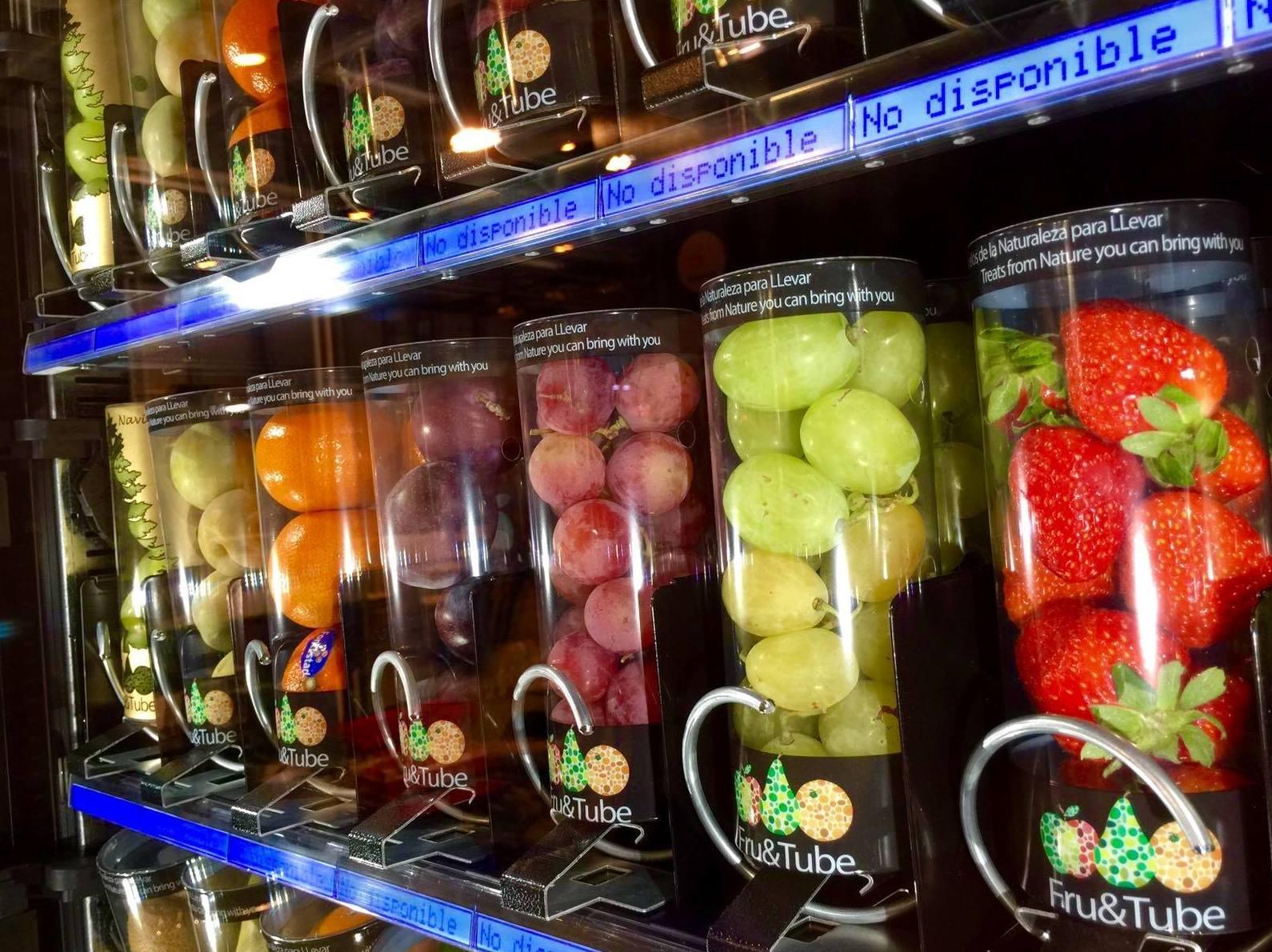 Fruta  y verdura envasada para máquinas vending