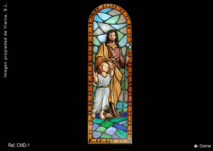 Vidriera \u0022San José y el niño Jesús\u0022
