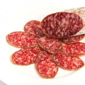Salchichón ibérico de bellota D.O.: Carta de Cervecería Restaurante Gambrinus Mirasierra
