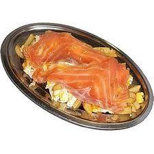 Huevos estrellados con salmón y patatas: Carta de Cervecería Restaurante Gambrinus Mirasierra