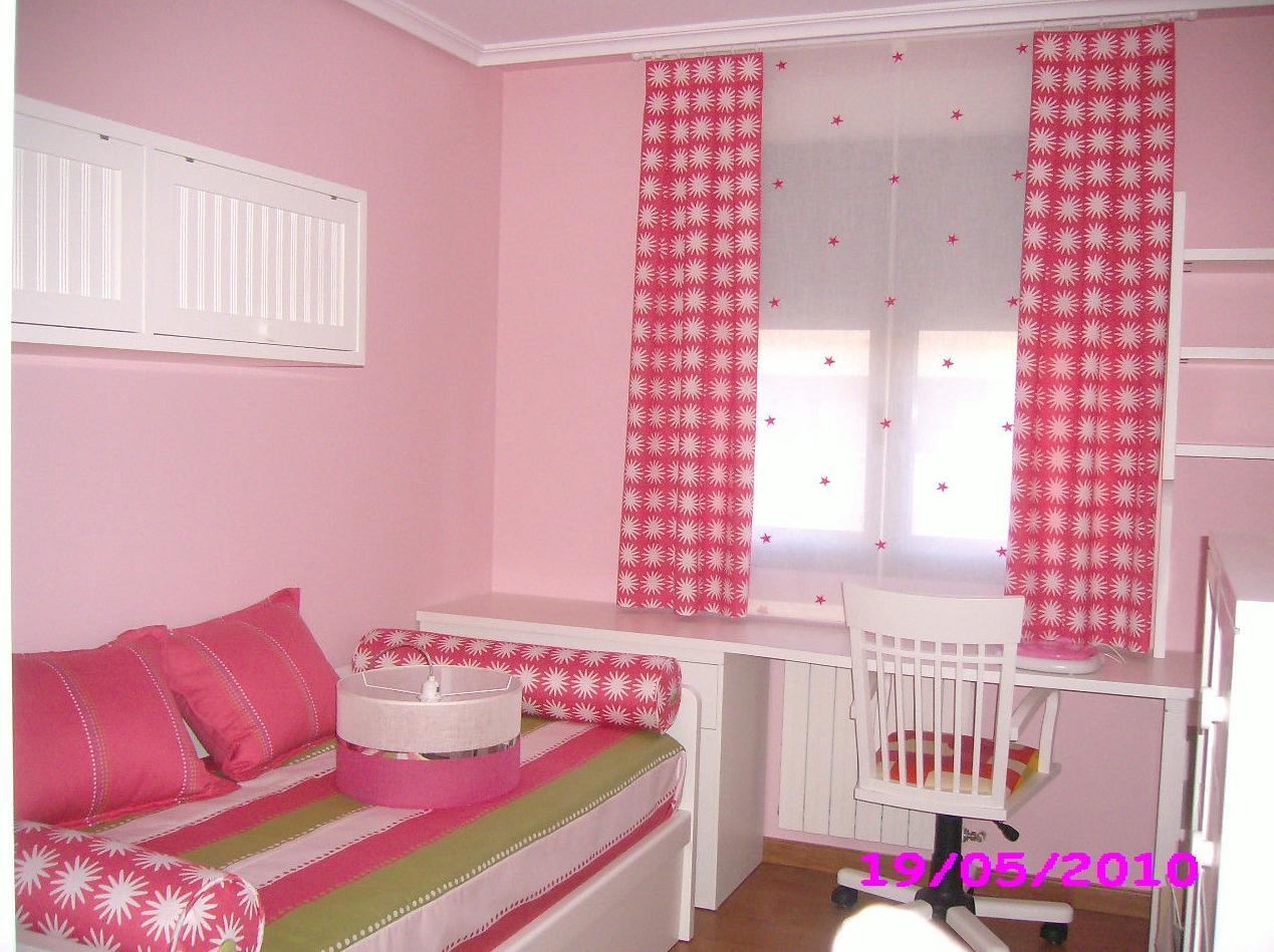 Cortinas y ropa de cama para habitación juvenil