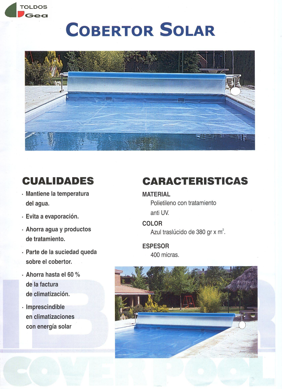 Cobertor solar para verano para piscinas Murcia, Toldos Gea Murcia