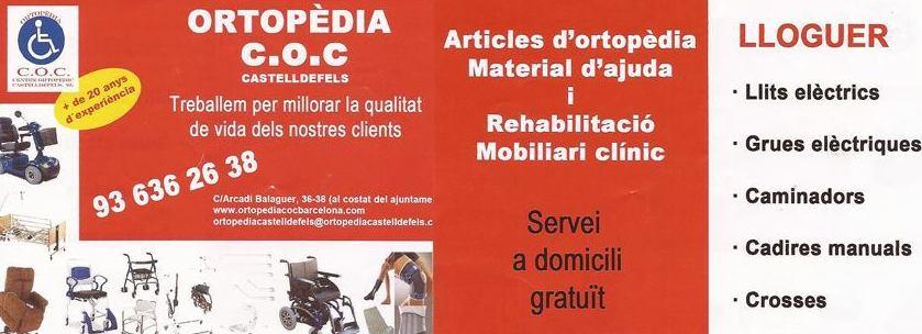 *Alquiler silla de ruedas Castelldefels|Ortopedia C.OC