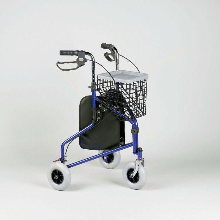 Andador de tres ruedas