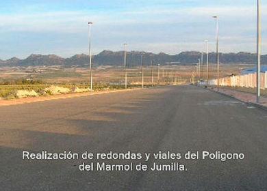 Realización de redondas y viales del Polígono del Mármol en Jumilla http://www.movimientosdetierrasjumilla.es/es/