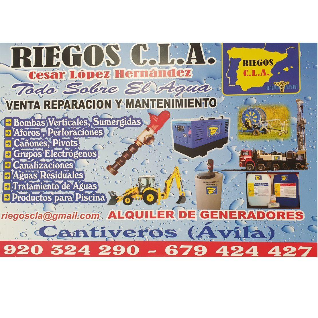 Venta, alquiler, reparación y mantenimiento: Servicios de  Riegos C.L.A, S.L.