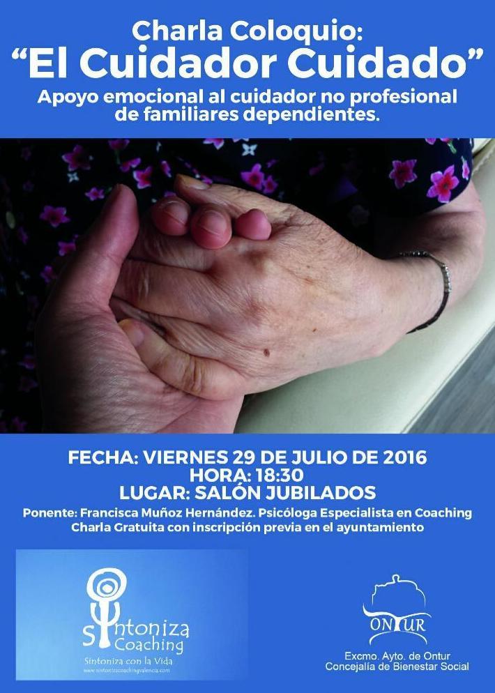 Charla EL CUIDADOR CUIDADO en Ontur (Albacete)