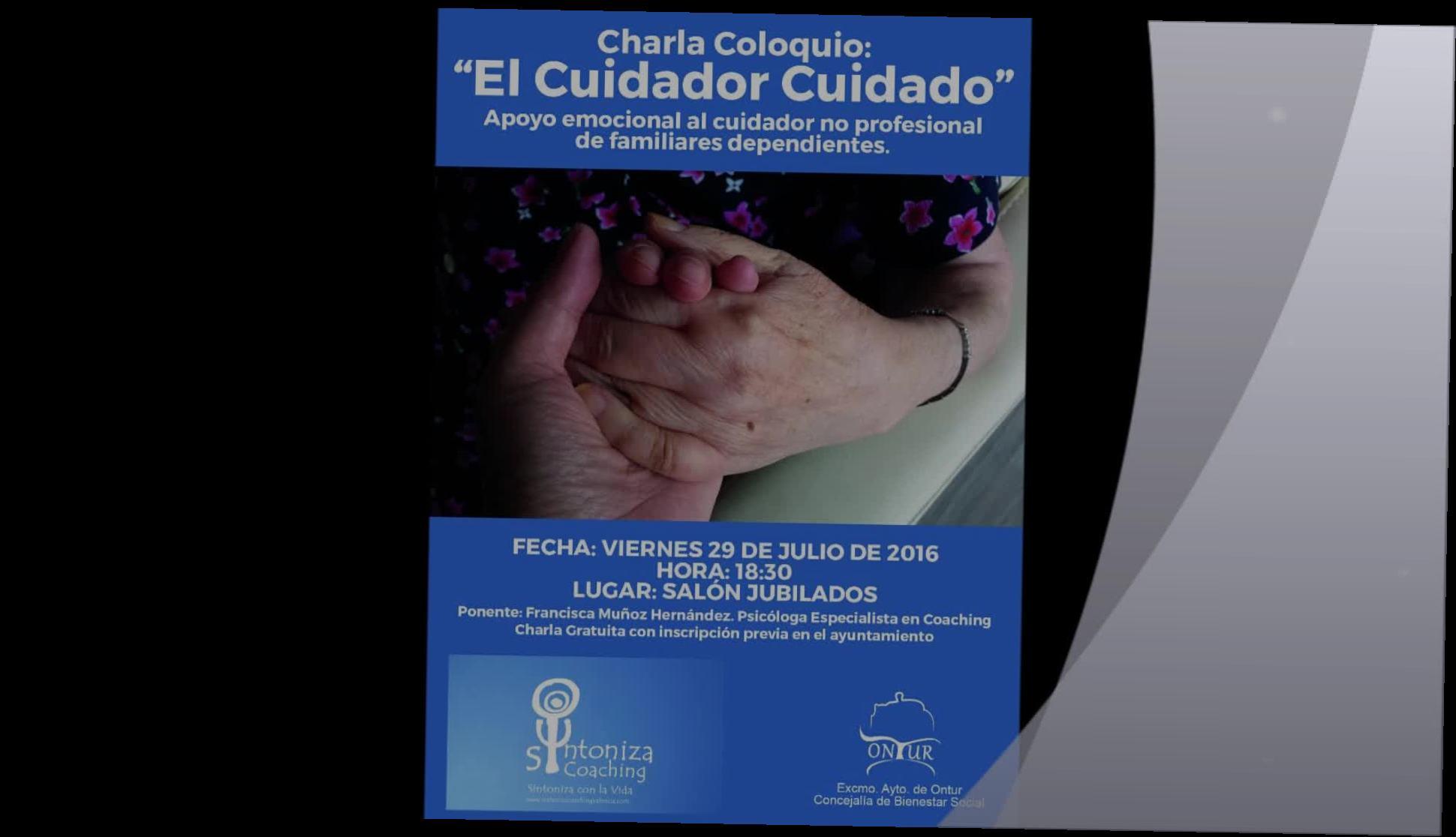 """Charla """"El Cuidador Cuidado"""" Ontur (Albacete) }}"""