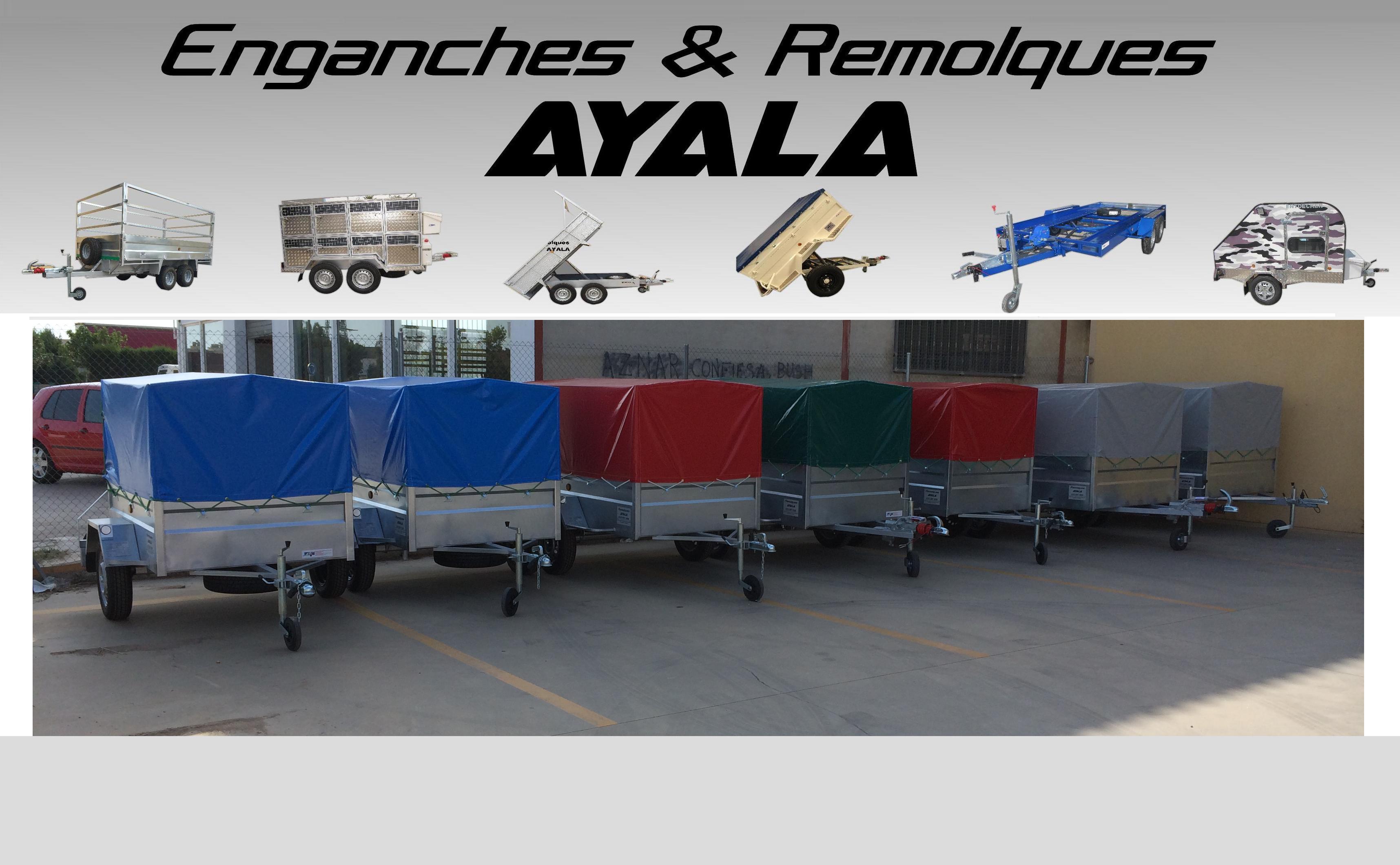 Remolque x x 500 con lona y arquillos for Enganches para toldos