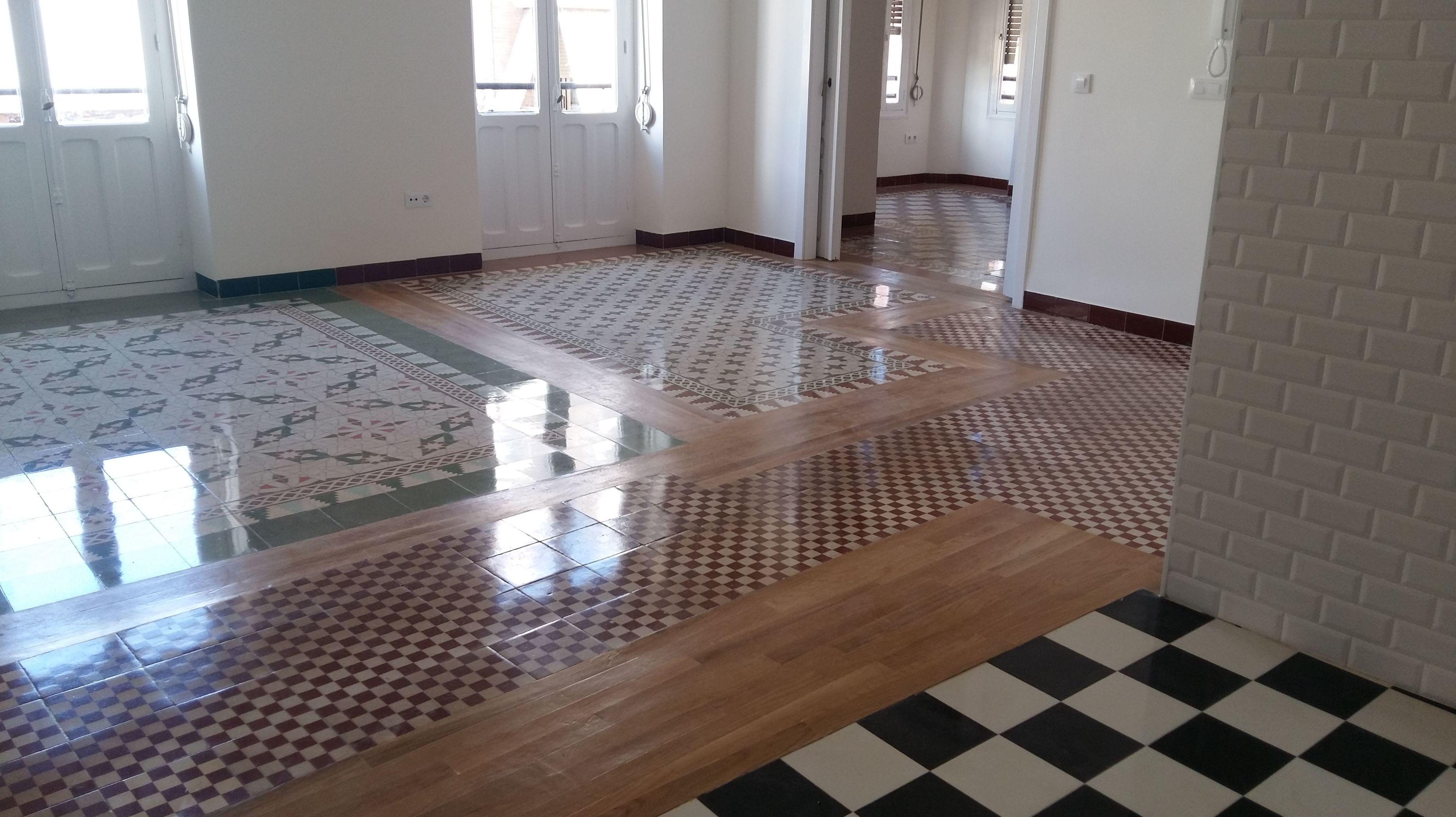 restauración de mosaico hidraulico : Servicios  de Pulidos Egea