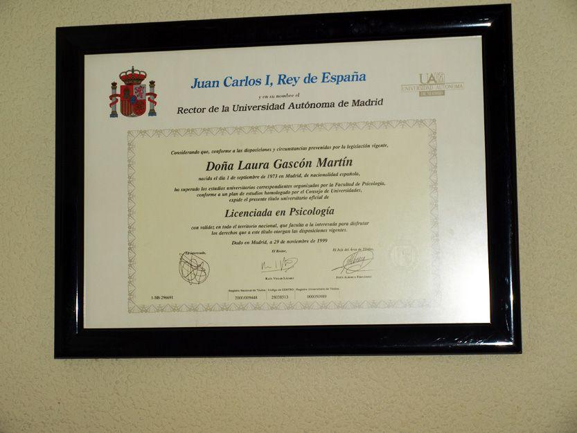 Licenciada en psicología en Talavera de la Reina