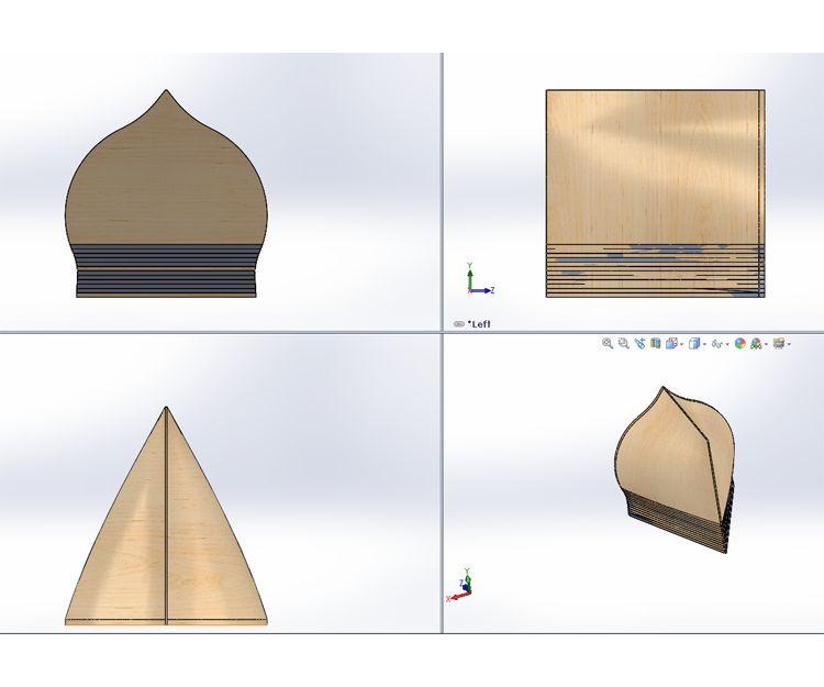 Modelo 3D de un Sub Bufer