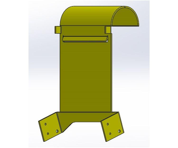 Modelo de pieza usada en una máquina recreativa