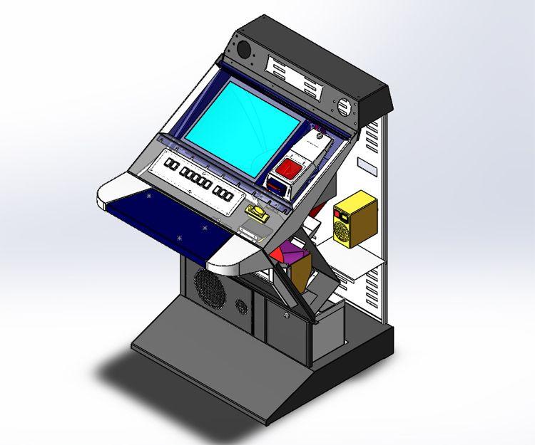 Modelo de máquina recreativa modelo SlanTop con todos sus componentes dentro