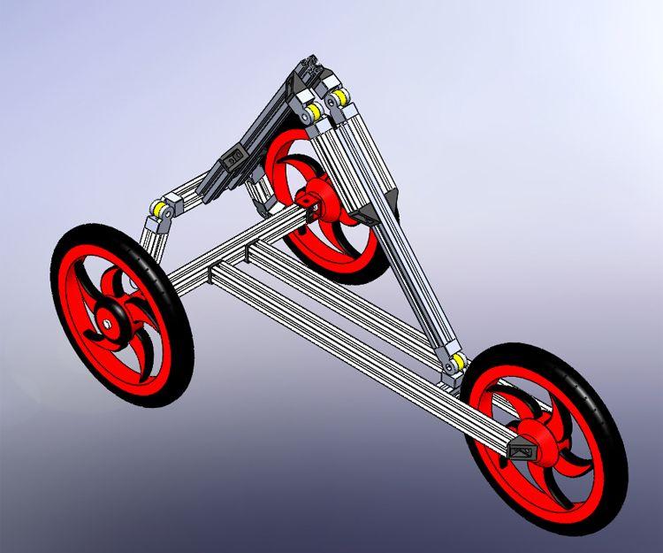Foto que muestra el proceso de creación de un triciclo