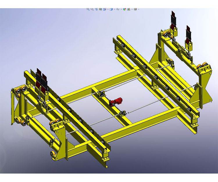 Una visualizaciones de un ensamblaje que muestra los componentes que se van usar, su posición y funcionalidad