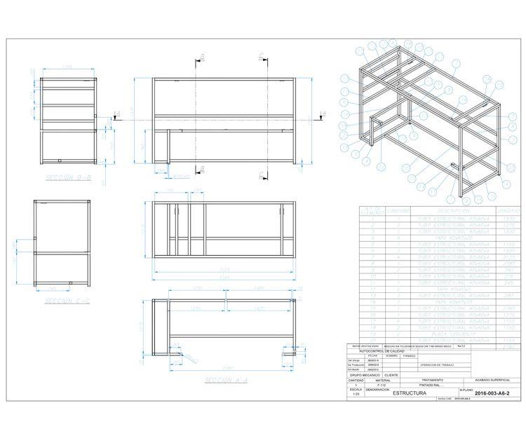Un plano de montaje de un proyecto
