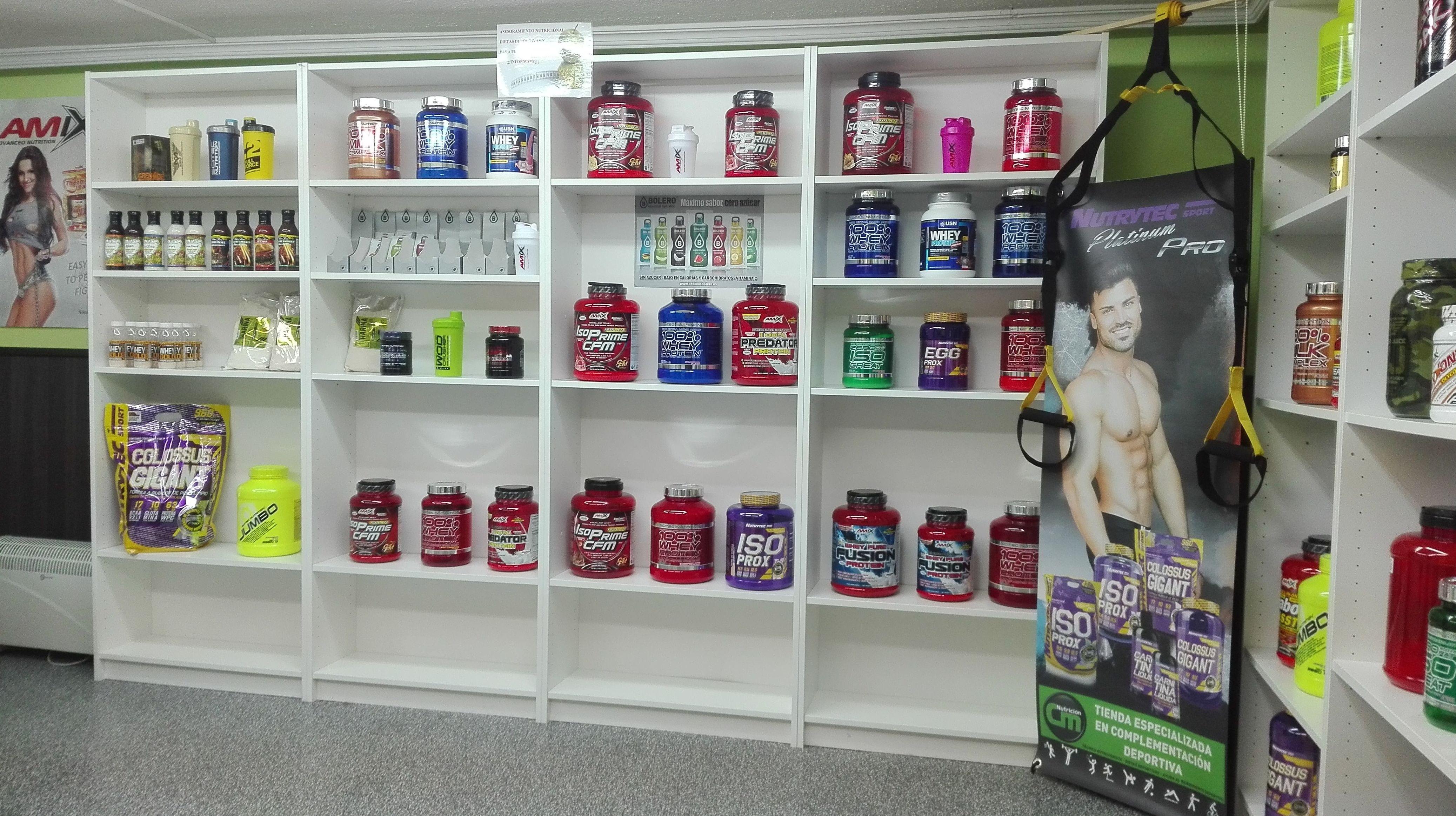 Gran variedad de productos para deportistas