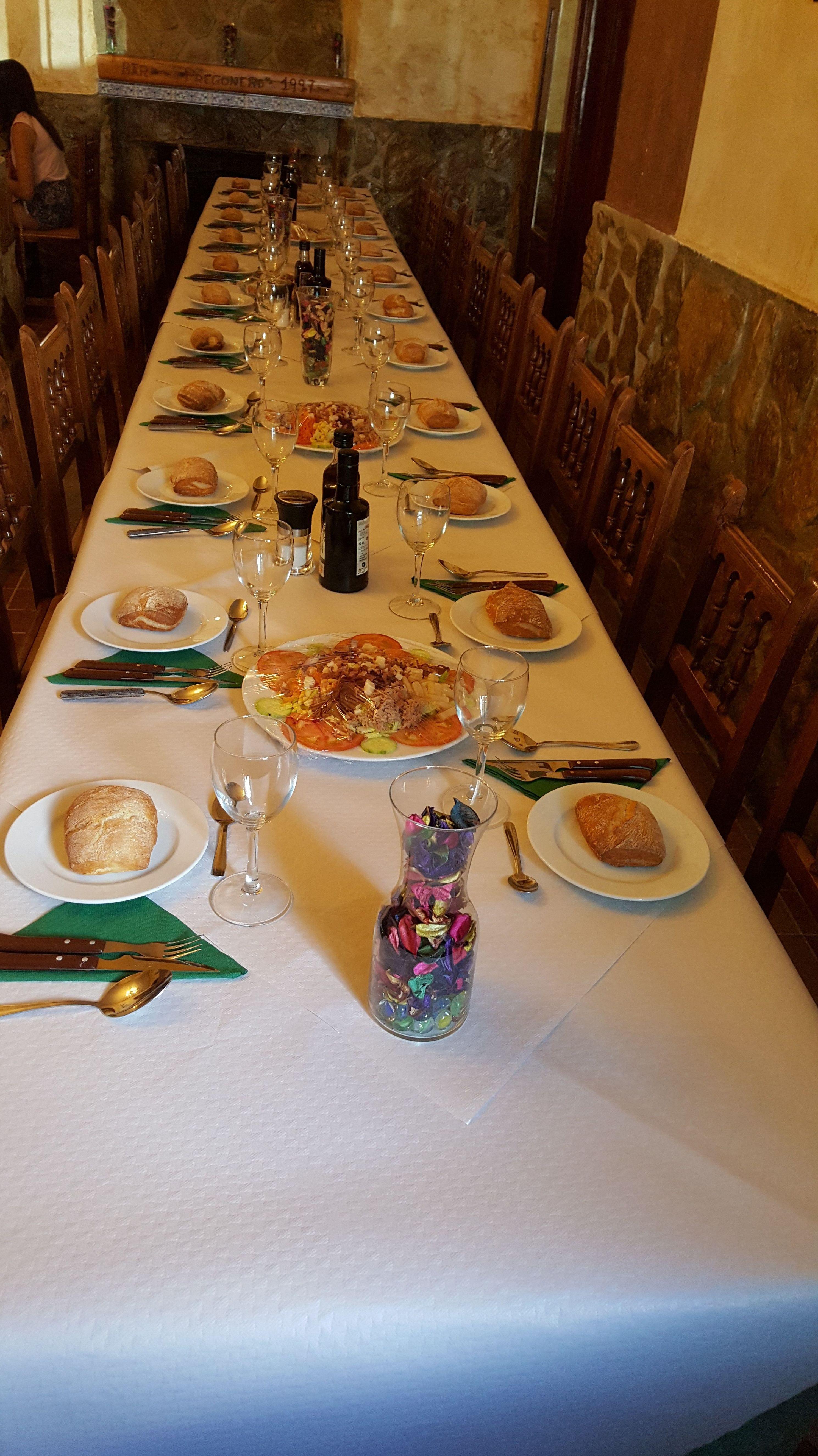 Comidas y cenas de grupo